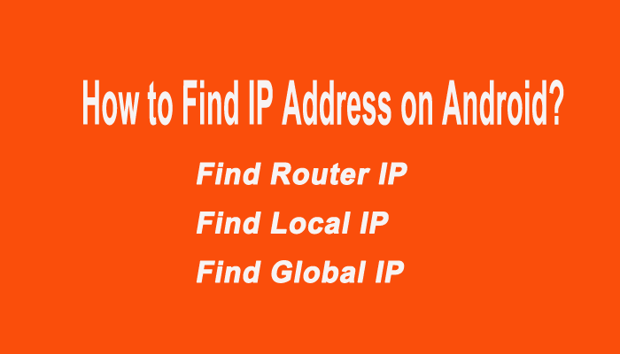 Find Your Router IP Local IP and Public IP Address on Android -Quick Method