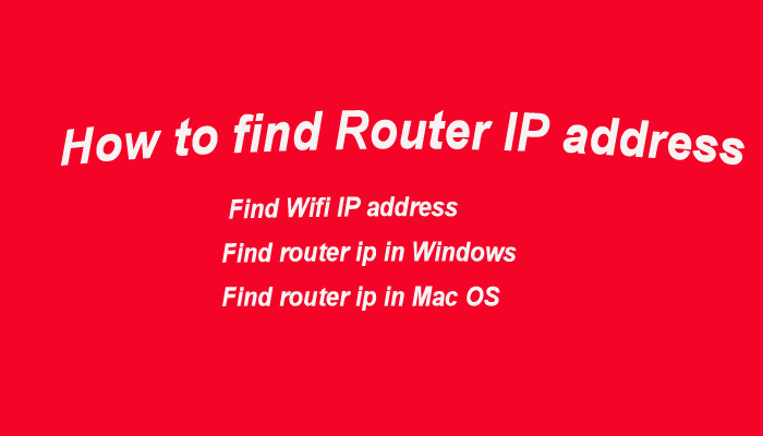 find wifi ip address