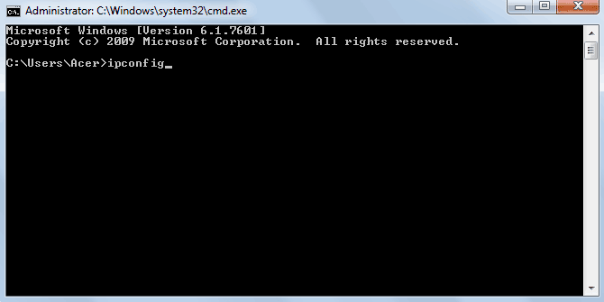 Ip find in command prompt