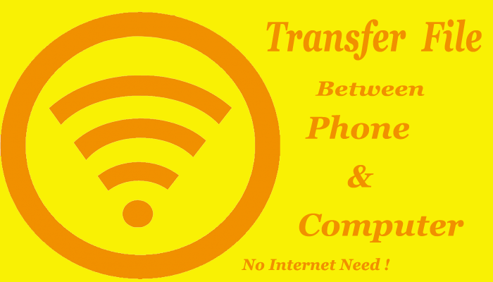 Phone to pc wireless transfer